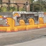 Уличные полотна создают в Одессе