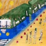 Дети встретили защитников рисунками и стихами
