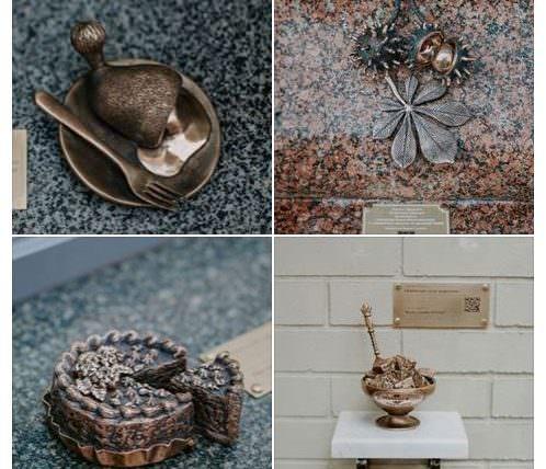 Четыре мини скульптуры в Киеве.