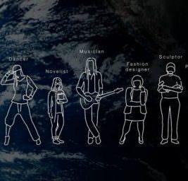 Художники на луне.