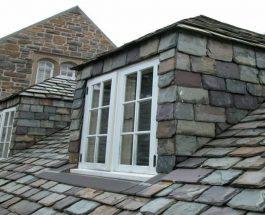 Крыша из натурального сланца